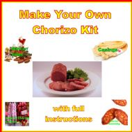 IN STOCK! Home Chorizo Sausage Kit with Mincer Filler, Chorizo Seasoning, 2 Casings, Curing Salts & Culture